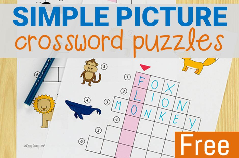 simple picture crossword puzzles main image