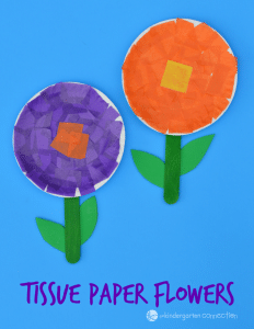 Tissue paper flower craft the kindergarten connection this flower craft for kids is simple and fun to make teach the basic parts mightylinksfo