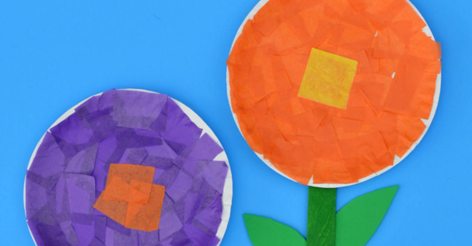 Tissue paper flower craft the kindergarten connection mightylinksfo