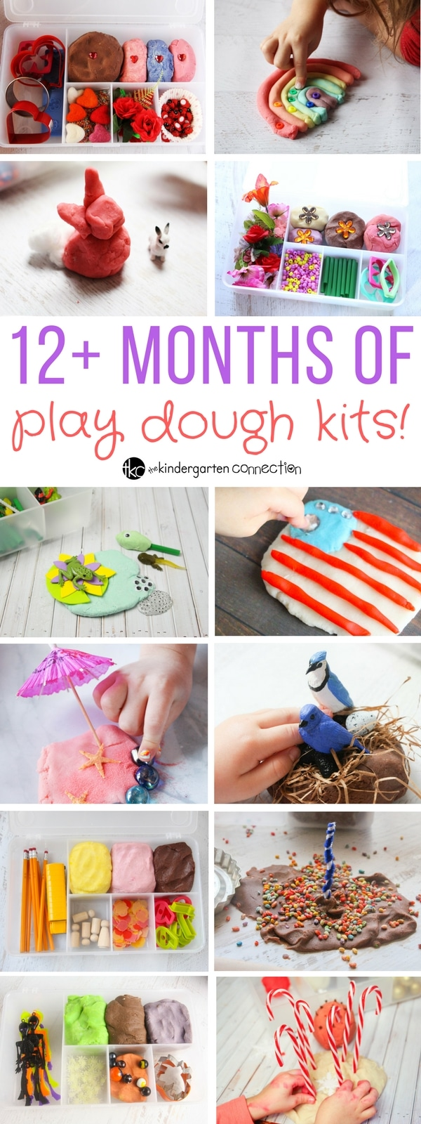 12 Months of Classroom Play Dough Activity Kits for preschool and kindergarten!