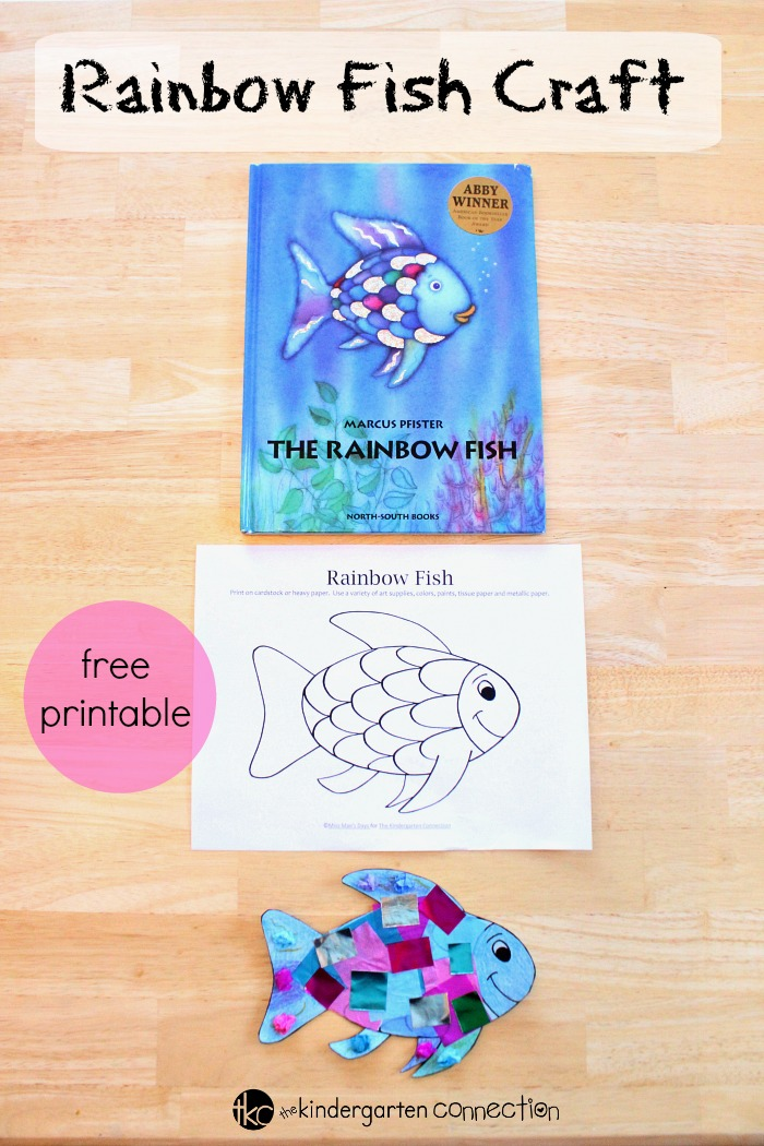 photograph about Rainbow Fish Printable identified as Rainbow Fish Craft - The Kindergarten Partnership