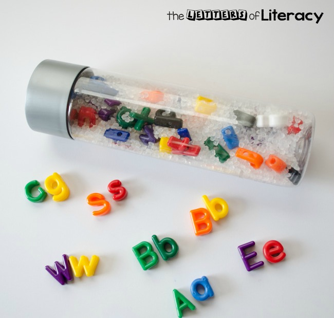 Uppercase and Lowercase Letter I Spy Sensory Bottle-8