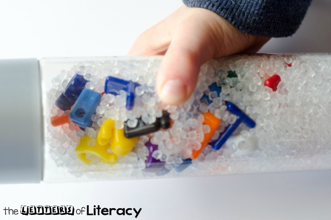 Uppercase and Lowercase Letter Sensory I Spy Bottle