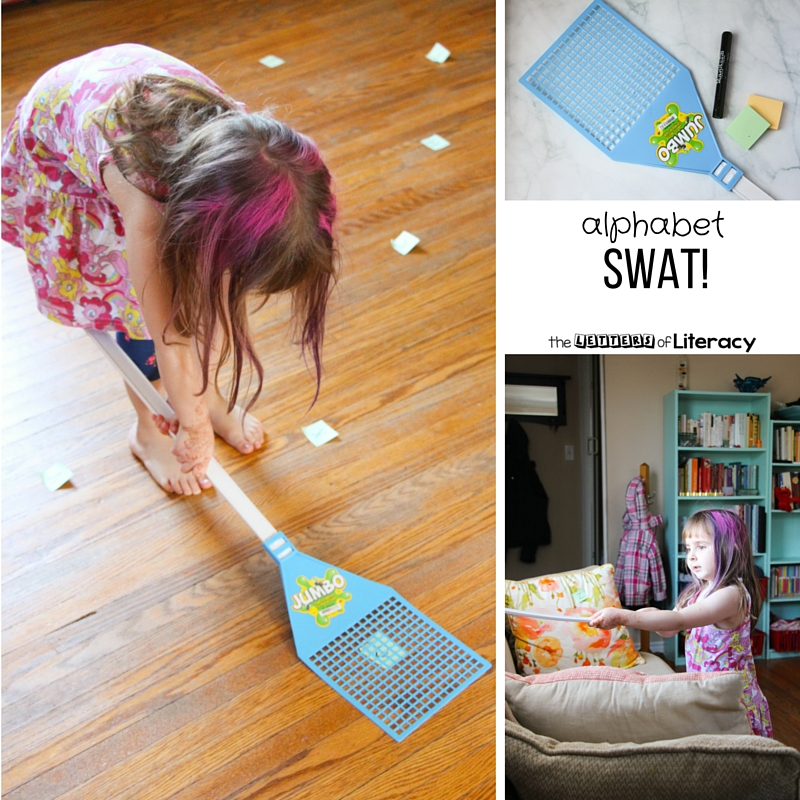 Get up and moving with this engaging letter recognition game! Practice the alphabet and naming letters, or get creative and play your own version!