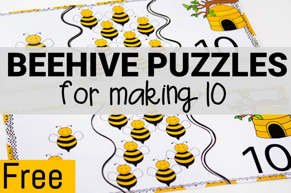 Beehive Puzzles for Making 10