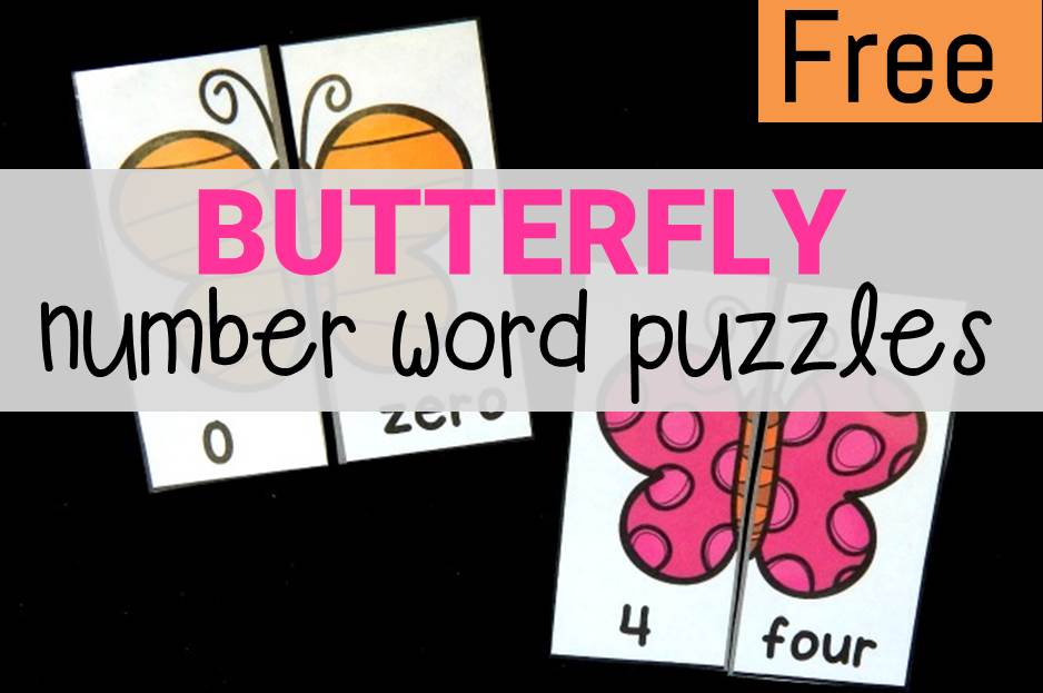 butterfly number word puzzles main image