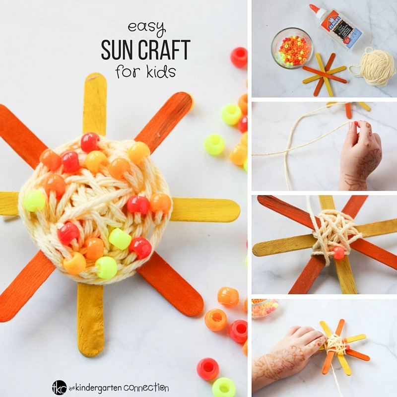 Easy Sun Craft For Kids The Kindergarten Connection