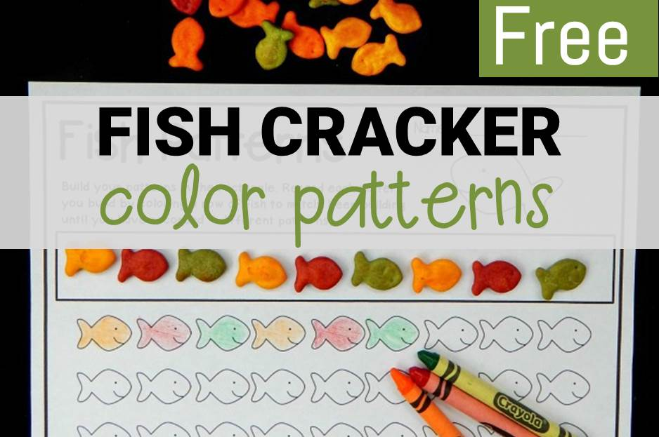 Fish Cracker Color Patterns - The Kindergarten Connection