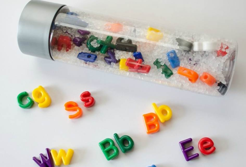 Letter Matching Sensory Bottle