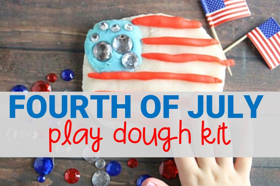 4th of july play dough kit