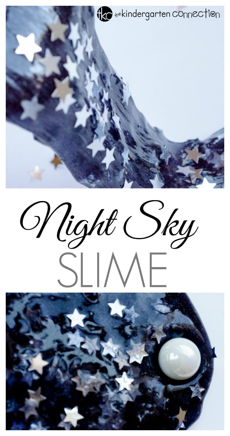 Starry night sky slime the kindergarten connection starry night sky slime is a the perfect sensory activity for a space unit or ccuart Gallery