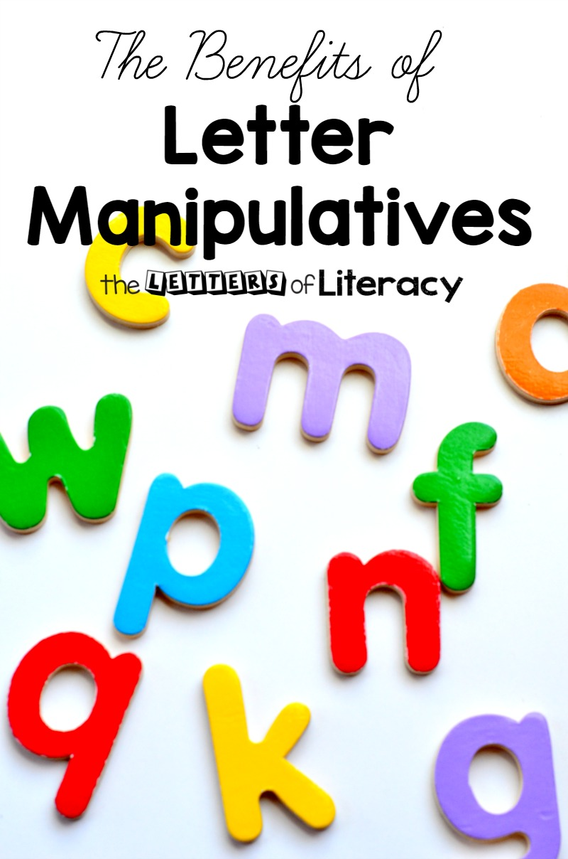 The benefits of letter manipulatives are incredible. They are great tools for reading, writing, visual discrimination, and more literacy foundations.