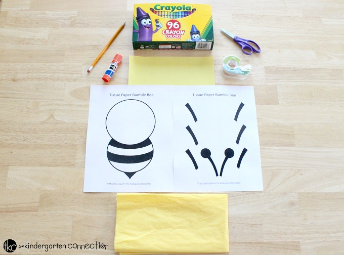 image regarding Printable Tissue Paper named Tissue Paper Bumble Bee - The Kindergarten Romantic relationship