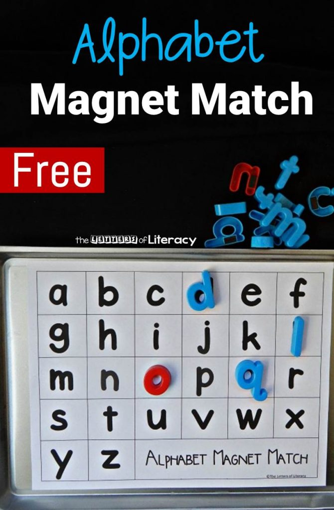 FREE Alphabet Magnet Match Printables for Pre-K and Kindergarten literacy centers!