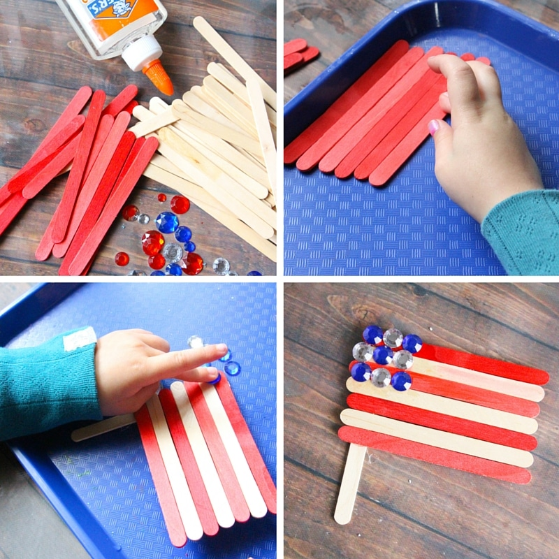 972453ac6e91 American Flag Craft - The Kindergarten Connection