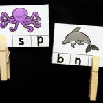 Ocean Animal Beginning Sound Clip Cards