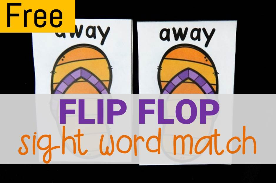 sight word flip flop match main image