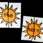 Sunshine Sight Word Puzzles
