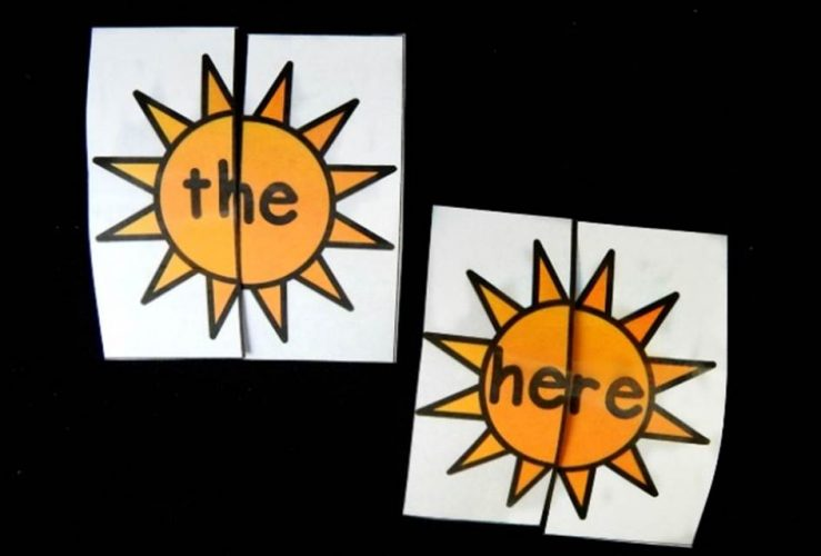 Sunshine Sight Word Puzzles