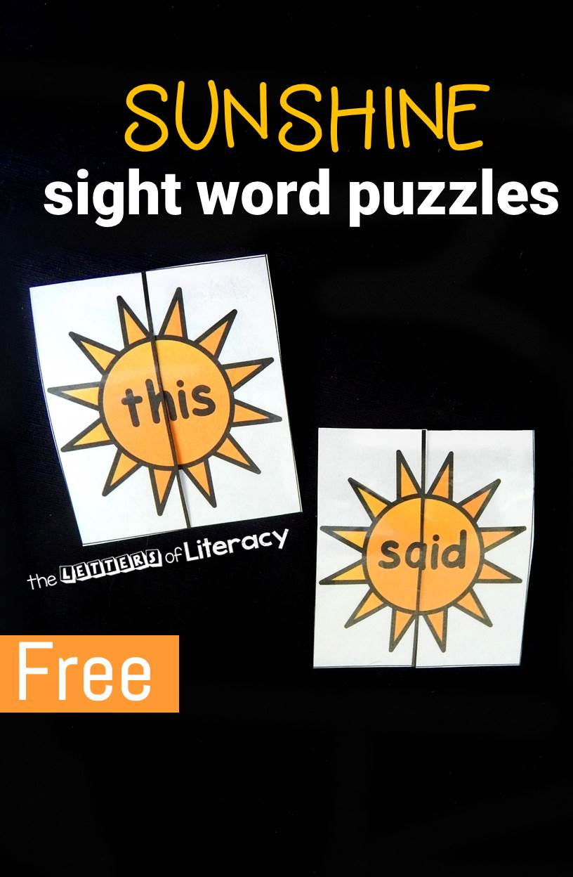These super fun sunshine sight word puzzles make learning sight words a blast! Plus, they are editable - so you can add in your own words.