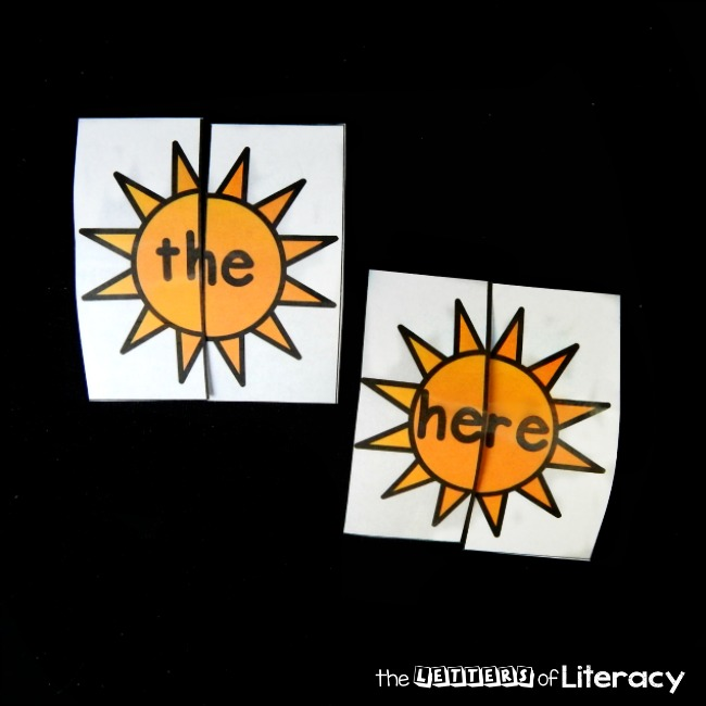 sunshine sight word puzzles that are editable!
