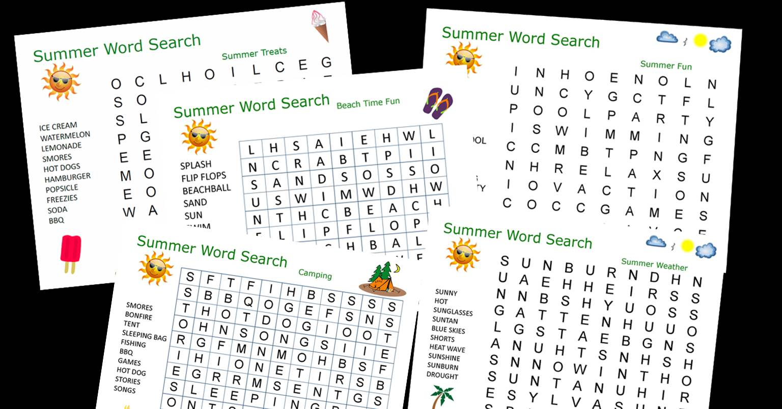 summer word searches FB