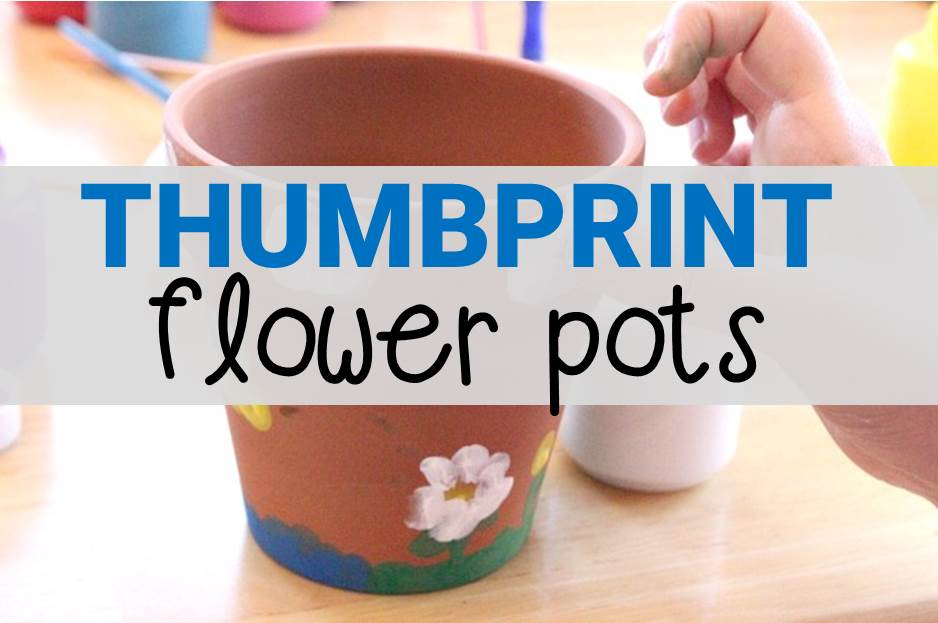 Thumbprint flower pot craft for kids