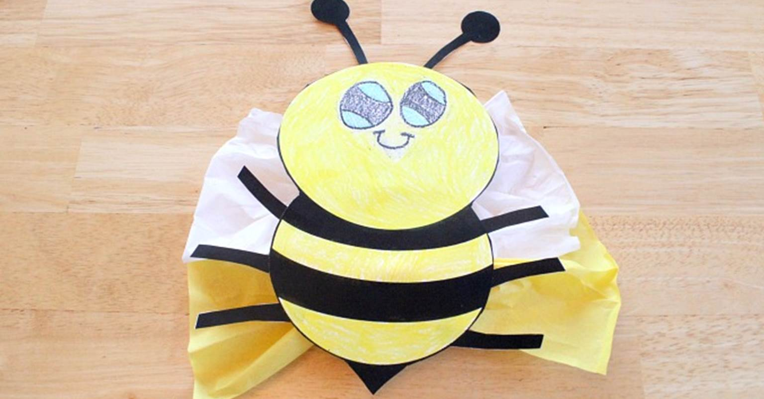 tissue paper bumble bee the kindergarten connection
