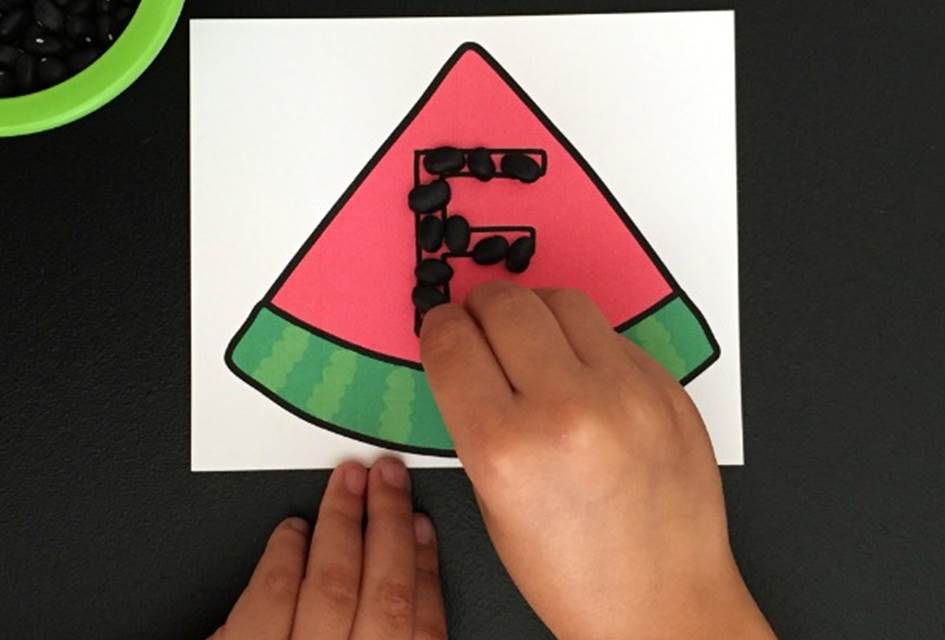 Watermelon Seed Alphabet Tracing Cards