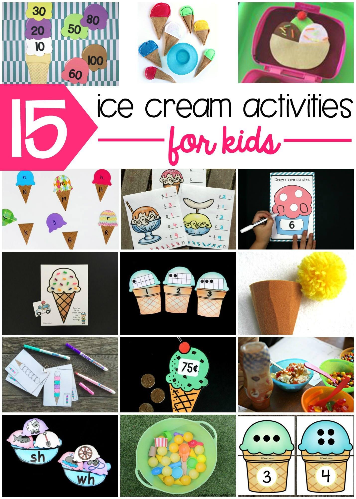 15 ice cream activities for kids