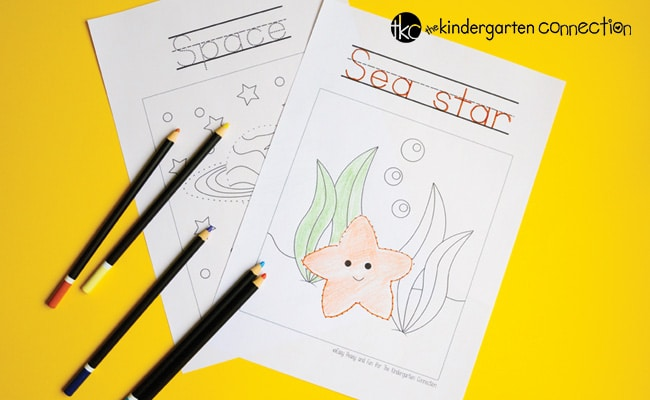 These free tracing coloring pages are perfect for early writers to work on printing and coloring. With fun themes, they are sure to be a hit!