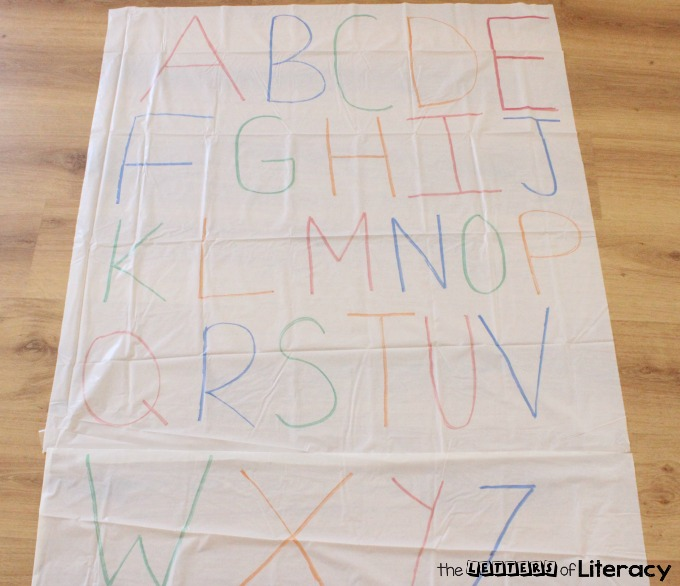 DIY Letter Sounds Practice Mat