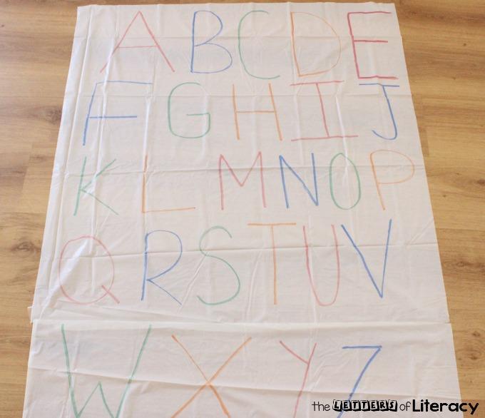 DIY Letter Sounds Practice Mat