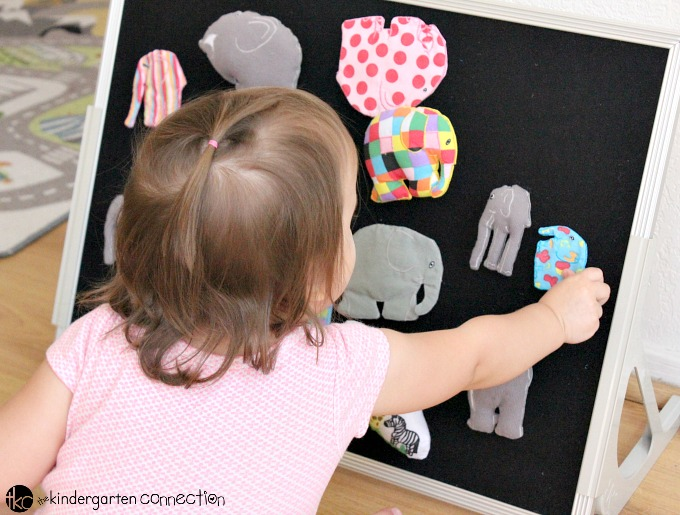 This dot art Elmer craft for kids is the perfect addition to the fun read aloud. It's hands on creative fun, and makes a great bulletin board display!