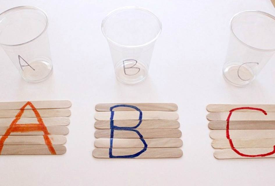 ABC Popsicle Stick Puzzles