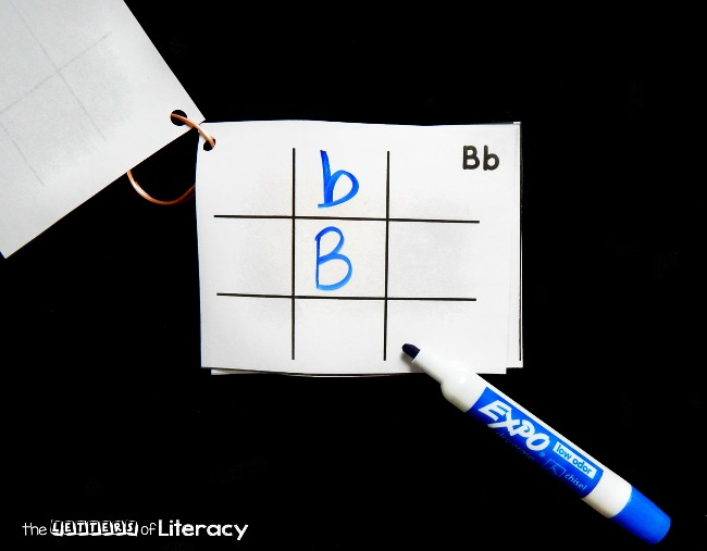 This alphabet travel tic tac toe is the perfect activity to take with you on trips or play in the classroom too. A fun twist on the classic game!
