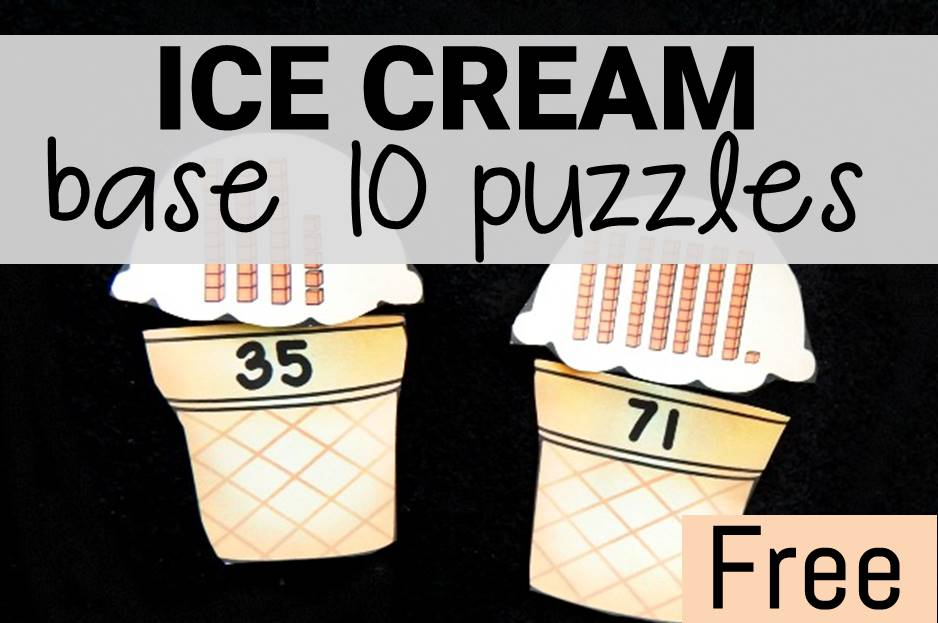 Ice Cream Base 10 Puzzles