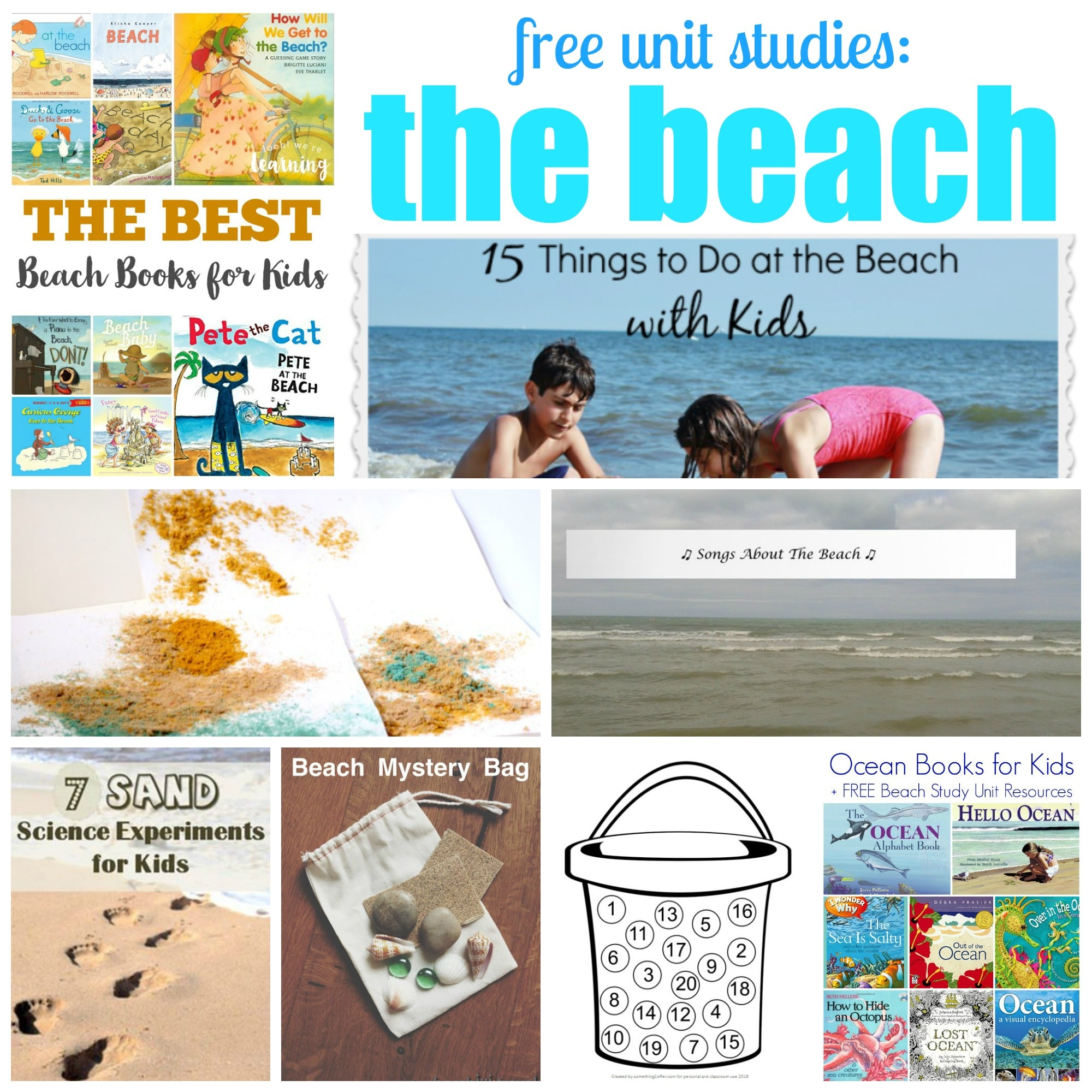 Tons of fun and free beach themed learning activities and printables!