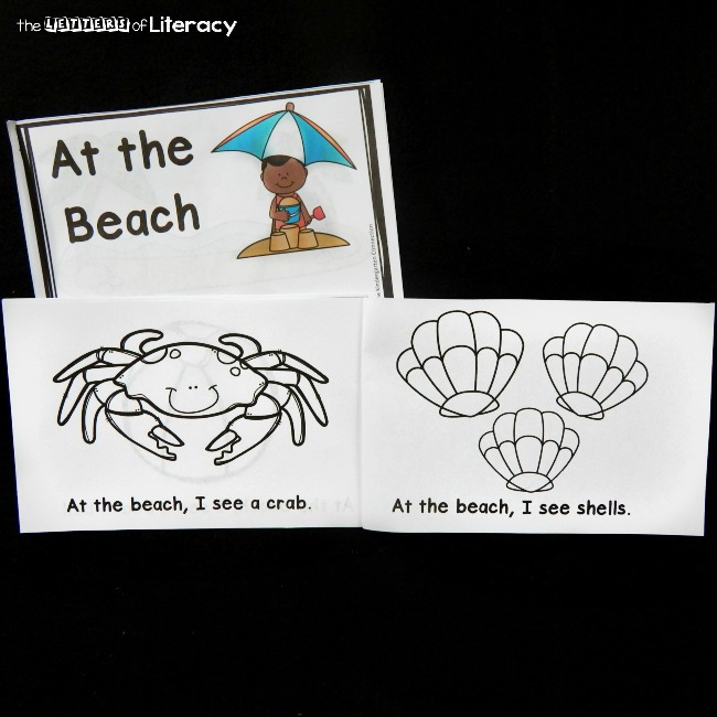 This beach themed emergent reader is great for some summer reading (or anytime!) With predictable text and sight words, it is great for beginning readers.