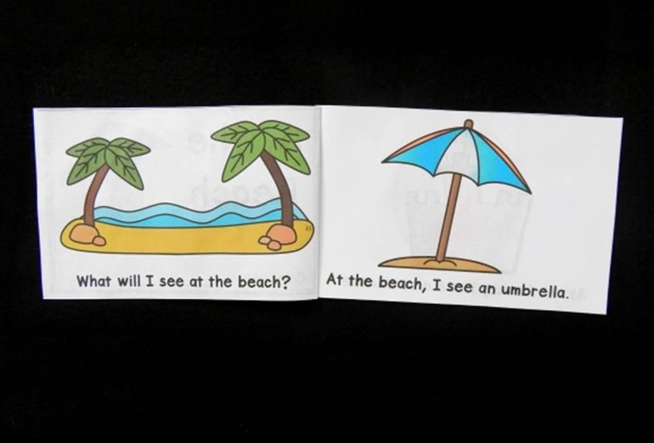 Free Beach Themed Emergent Reader