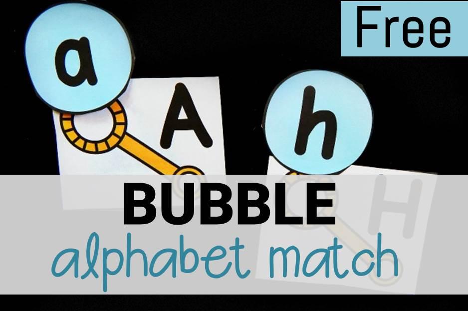 bubble alphabet match main image