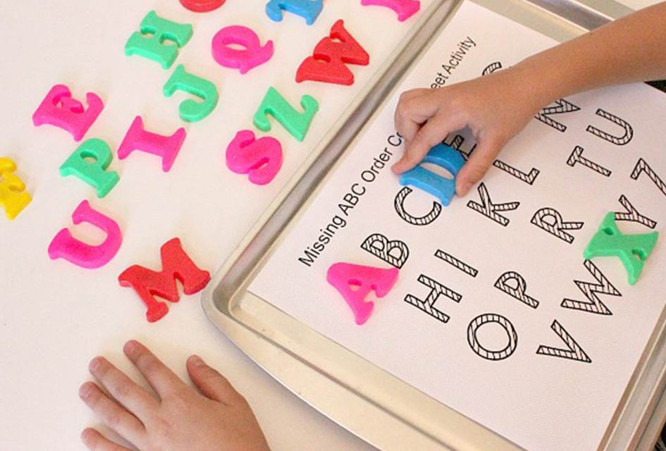 Missing Letters Cookie Sheet Activity