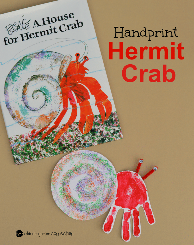 Handprint Hermit Crab Craft - The Kindergarten Connection