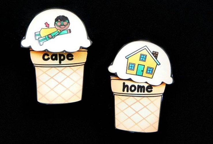 Ice Cream CVCe Puzzles