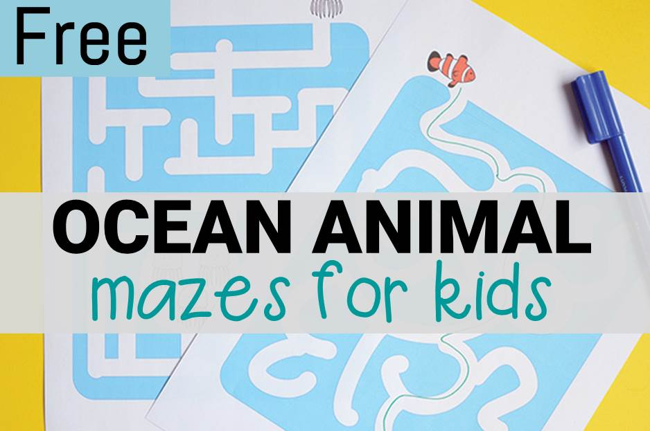 Ocean Animals Mazes for Kids