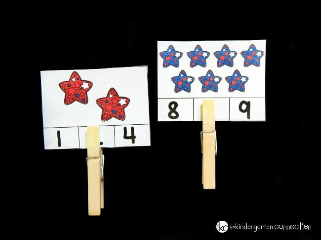 Work on counting sets to 12 this summer with these fun, free, and festive patriotic stars count and clip cards! Plus, they build fine motor skills too!