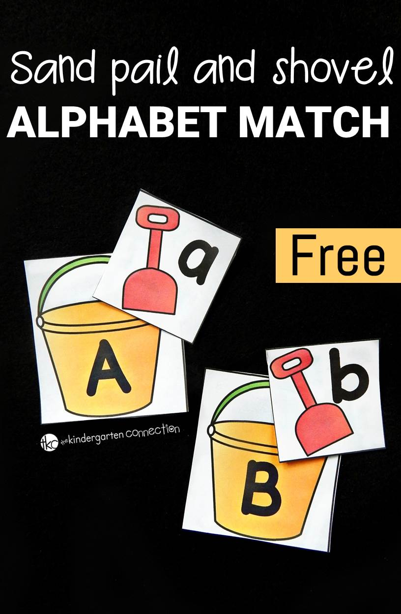 sand pail and shovel alphabet match