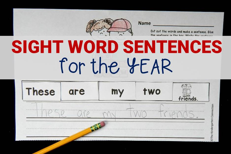 sight word sentences for the year main image