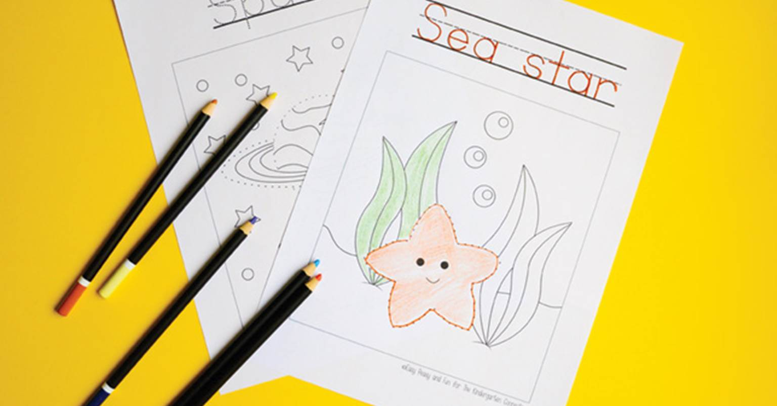 Tracing Coloring Pages - The Kindergarten Connection