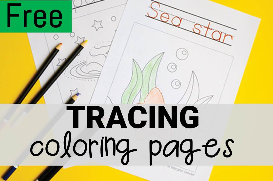 tracing coloring pages main image
